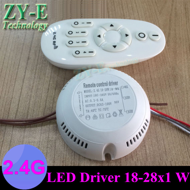2 set 2.4G Wireless RF Remote Controller ceiling lights driver 18-28w Intelligent lighting driver Intelligent Lamps freeshiping image