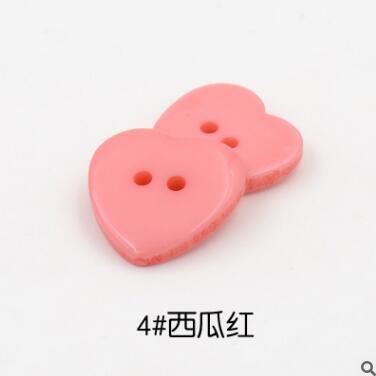 Красивые 1 лот = 100 шт полимерные кнопки в форме сердца 2 отверстия пластиковые кнопки Швейные аксессуары для одежды DIY для детской одежды кнопка мешок - Цвет: 4-melon