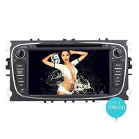 Double 2 Din 7 Inch Quad Core Car DVD Player For Ford Focus Android 5 1