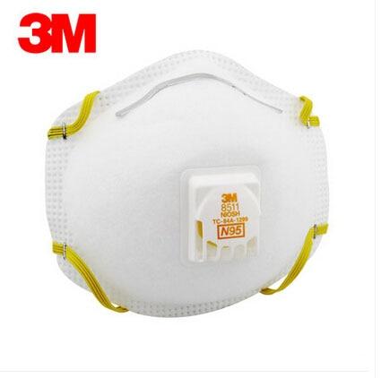3M 8511 Respirator PM2.5 Masks Anti-fog CN LA /US NIOSH Approval High Efficiency Electrostatic Filter Material H012810 50pcs high quality dust fog haze oversized breathing valve loop tape anti dust face surgical masks