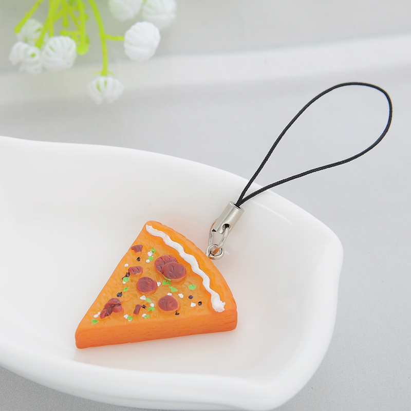 7 pcs / set Pizza Pendant Kalung Keychain Keyring Sahabat Selamanya - Perhiasan fashion - Foto 3