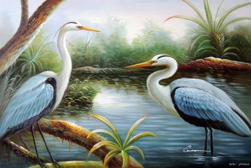 White Heron Paint By Number