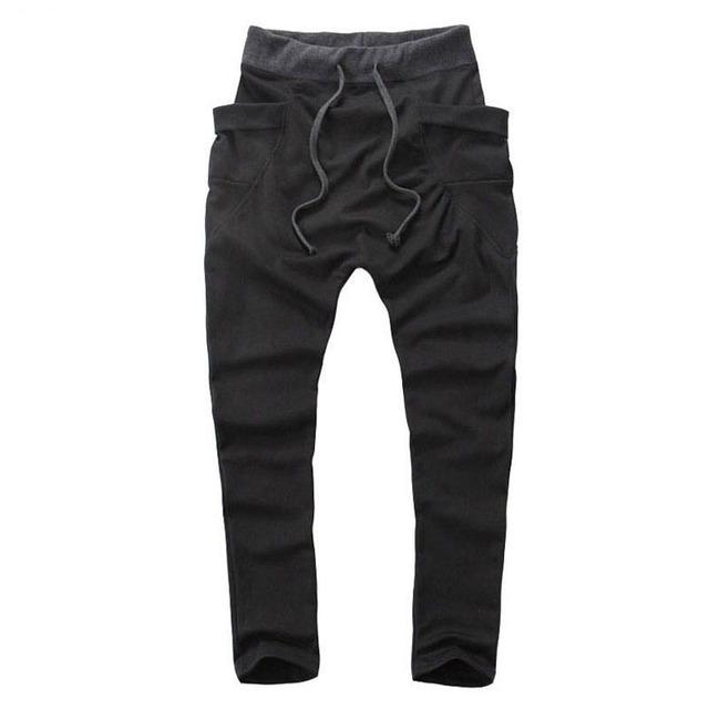 Novo 2016 Hot Sale Casual as Calças Dos Homens, Harem Pants dos homens, cordão Bolso Grande Calças de Moletom, Multicolor pode escolher A40