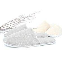 10 paires pantoufles jetables hommes affaires voyage passager chaussures maison invité pantoufle hôtel beauté Club lavable chaussures pantoufles