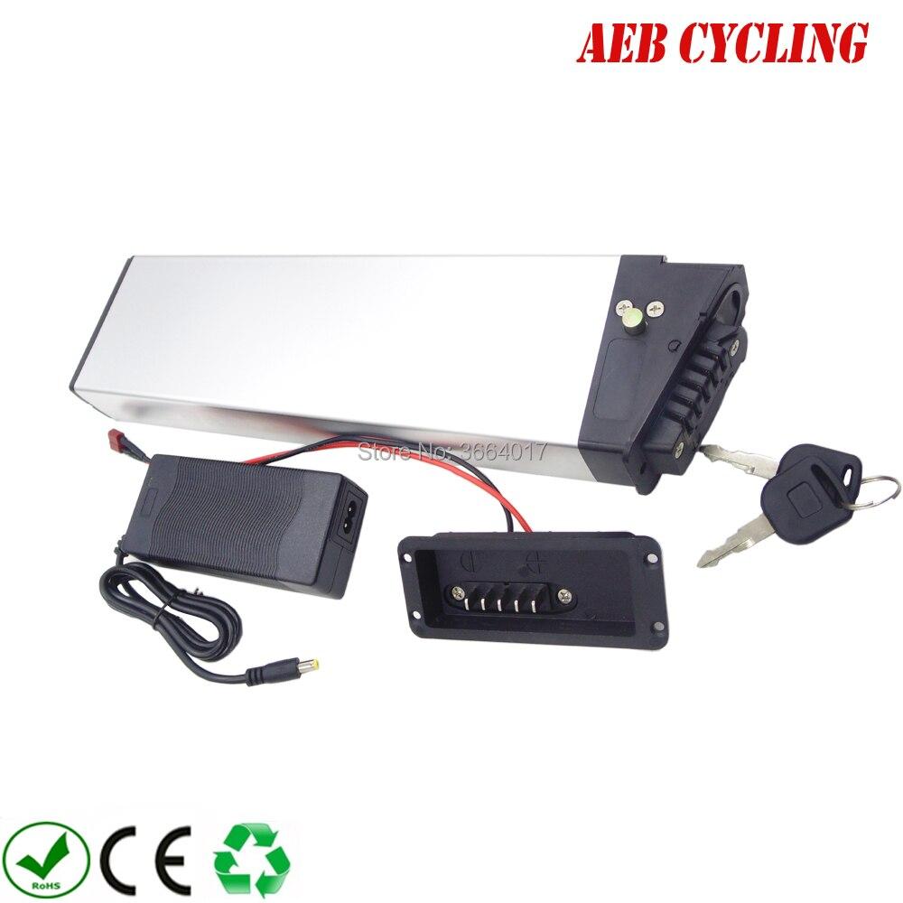 60 v Haute tension vélo pliant batterie 60 v 10.5Ah Lithium ion argent boîtier batterie pour vélo de ville pliable ebike avec chargeur