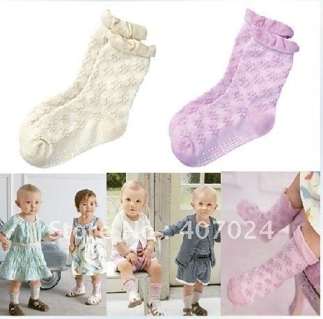 baby infant girls socks hose hosiery cotton Summer Thin baby anti slip socks footwear girl wearing clothing accessories 670021
