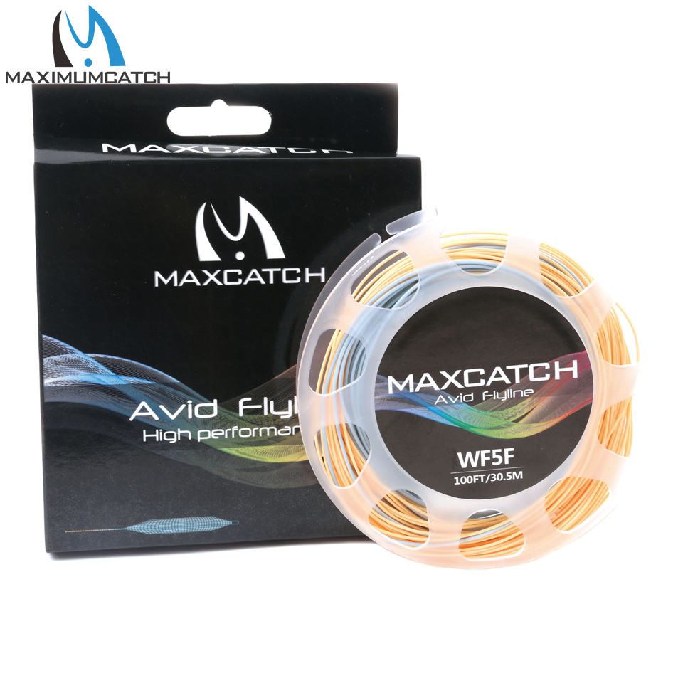 Maximumcatch Fly Fishing Line 100FT 3-8WT Weigh Forward Floating Fly Line With Two Welded Loops maximumcatch 100ft wf4 5 6 7 8f switch fly fishing line weight forward floating fly line with two welded loops fishing line