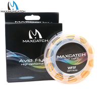 Maxcatch New Fly Fishing Line 100FT 5wt Weigh Forward Floating Fly Line With 2 Welded Loops
