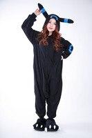 Adult Women And Men Pajamas Anime Cosplay Umbreon Onesies Anime Pokemon Cosplay Costume Winter Sleepwear Pajamas