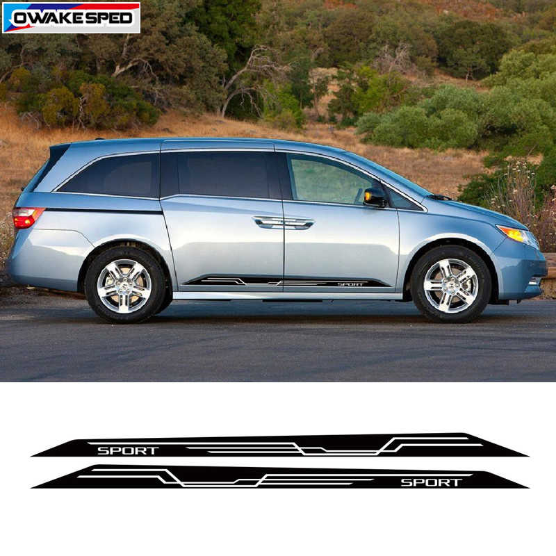 Racing Sport Stripes Decals Voor Honda Odyssey 2010 2012 2015 Auto Deur Side Rok Sticker Auto Body Accessoires Sticker
