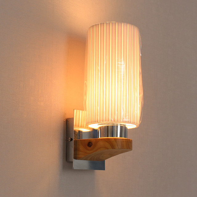 Applique murale en bois LED appareils De la lampe murale avec tissu abat jour clairage int.jpg 640x640 5 Superbe Applique Murale Tissu Gst3