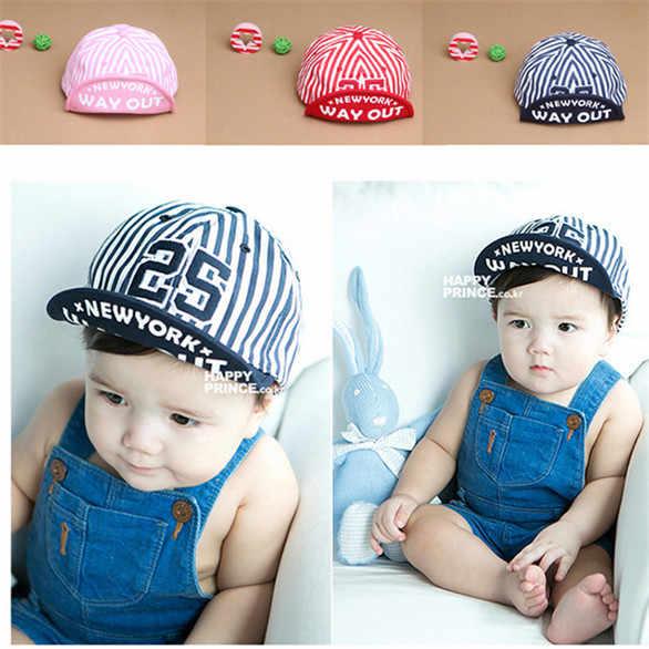 9b867091e0a Baby Unisex Kids Girls Boys Stripes Snapbacks Hats Baseball Cap Flat Visor  Snapback Caps BB75