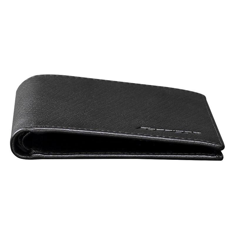 Genuine Leather Business Cowhide Solid Wallets for Men Bifold Brief Short Purse Walet Money Bag Male Credit Card Holder Carteira