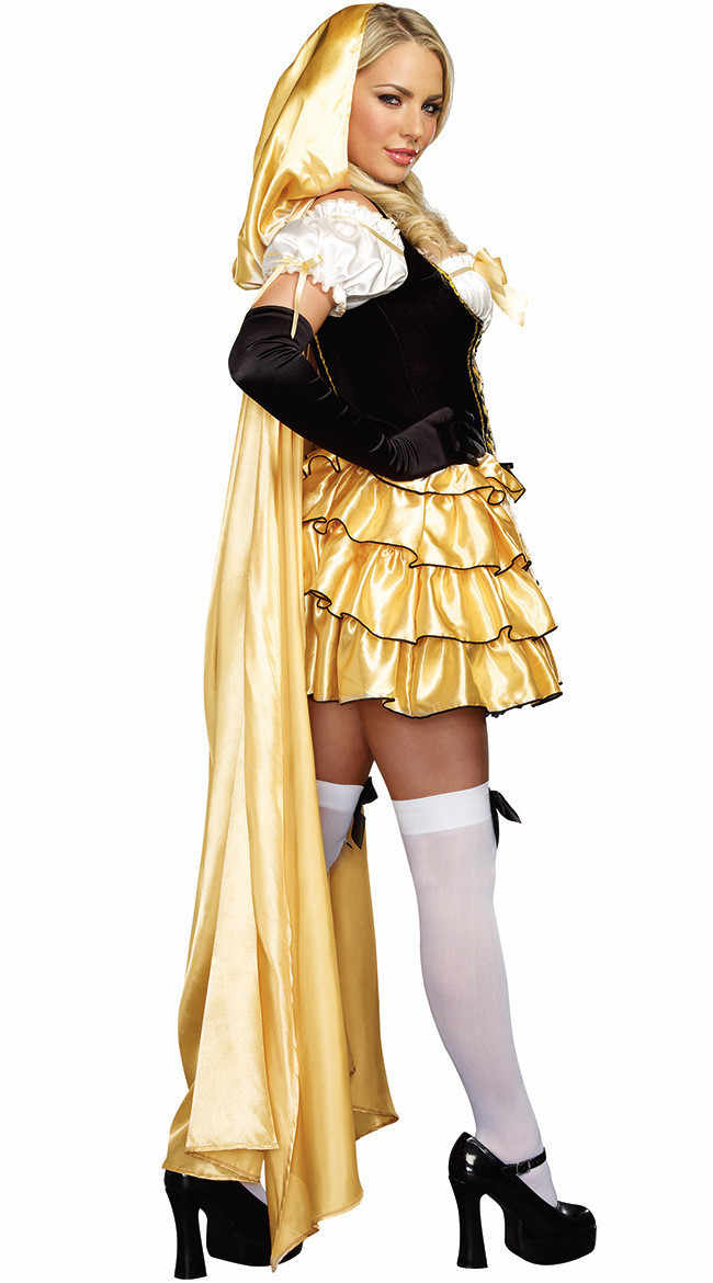 d848ad728a542 ... Halloween Deluxe Sexy Goldilocks Costume Fairy Tale Storybook  Goldilocks and Bear Outfit Fantasia Cosplay Fancy Dress