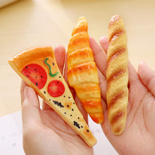 Creative Simulation Bread Ballpoint Pens Stationery Funny Pizza Ball Pen Canetas Escolar Material Office School Writing Supplies(China)