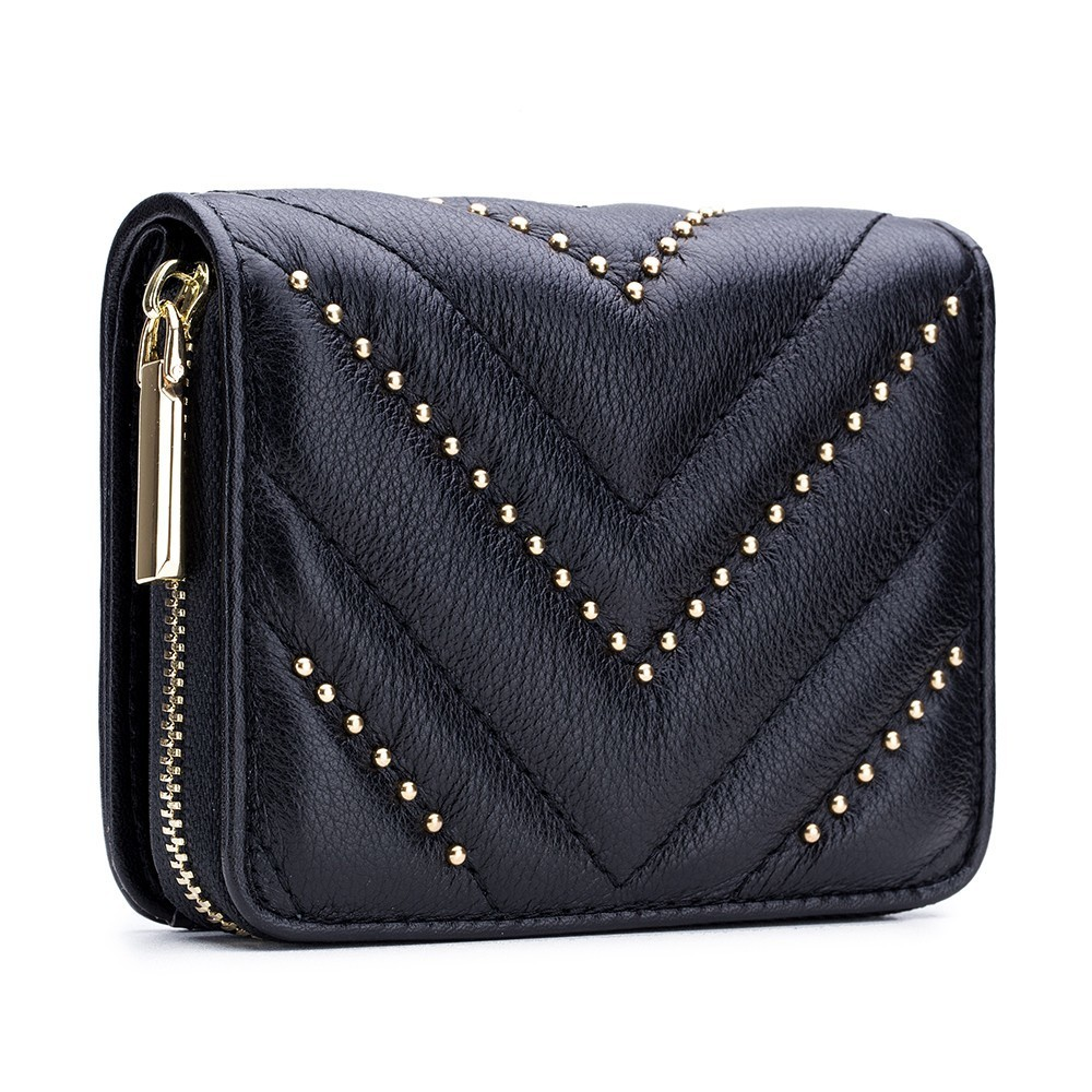 High quality Women's Wallet Cow Leather Small Purse Femme Clutch Bag Wallet Women Short Zipper Ladies Coin Purse Card Holder