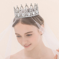 Crown princess New Arrival Bridal Hair Accessories Wedding Jewelry Luxuriou Big Round Crown