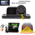 universal 2 in 1 Automobile Car sony CCD RearView Camera With Backup Parking Sensor Radar System 4.3 Inch TFT LCD Car Monitor