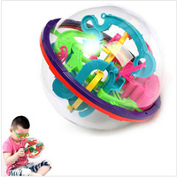 Hot 3D Magic Intellect Maze Ball Toys Kids Children Balance Logic Ability Puzzle Game Educational Training