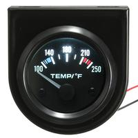2016 Brand New 2 Inch 52mm 100 250 Car Auto Instruments Water Temperature Gauge Backlight 12V