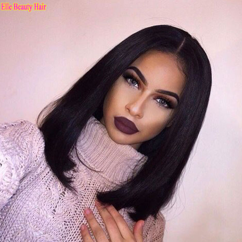 8a Shoulder Length Bob Full Lace Human Hair Wigs For Black