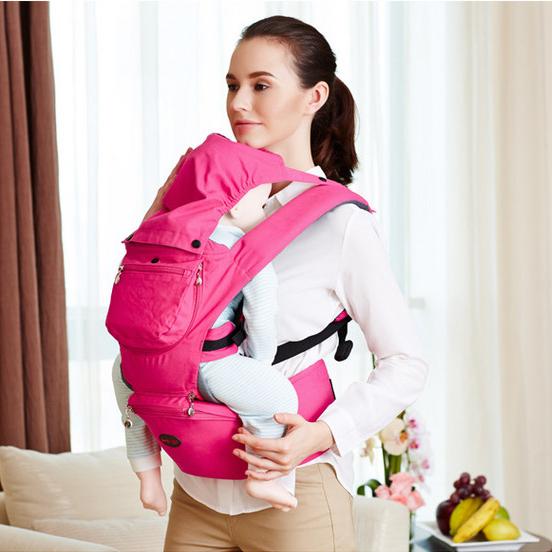 16 Amamentar Infantil Multifuncional Estilingue Mochila Epp Envoltório Portador de Bebê Hipseat Canguru Mochila 0-3 Anos de Algodão Respirável