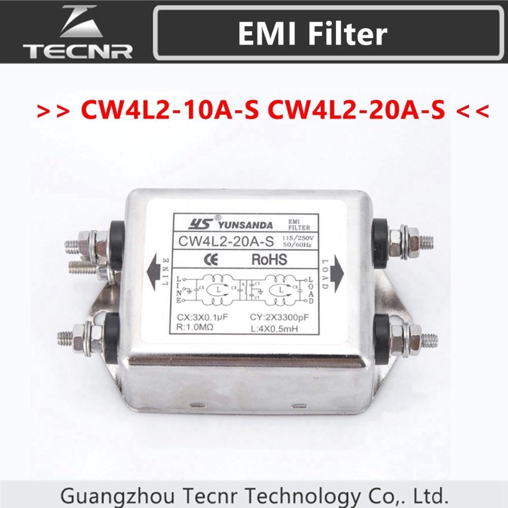 20A 50 250V Cw4L2-20A-T Power Line Power Emi Filter Module de filtre de puissance universel pour /équipement m/écanique 60Hz 115V