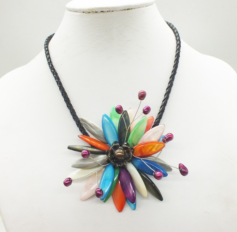 2018-12-18-11.41#  Like, you buy it  ! ! Last necklace  shell.pearl  flower necklace