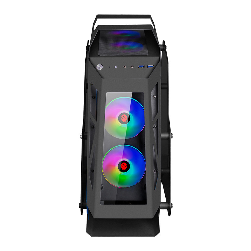 222*500*585MM Water cooling gaming chassis Special-shaped RGB PC Mainframe side Transparent Case gamer gabinete computador 1