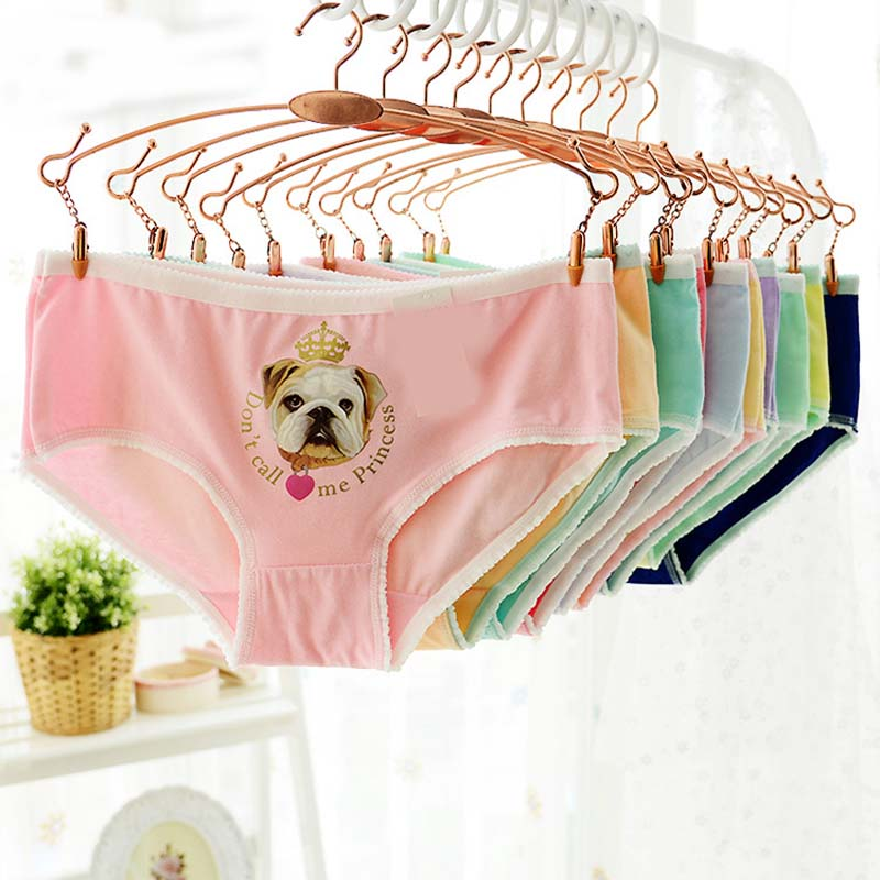 New Fashion Women Underwear Hot Sale Cotton Women Panties dog 3D Printed Cat Sexy Briefs for Gift Panties Female Free Shipping