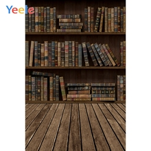 Yeele Old Wooden Bookshelf Vintage Books Floor Study Baby Child Portrait Photo Backgrounds Photographic Backdrops Studio