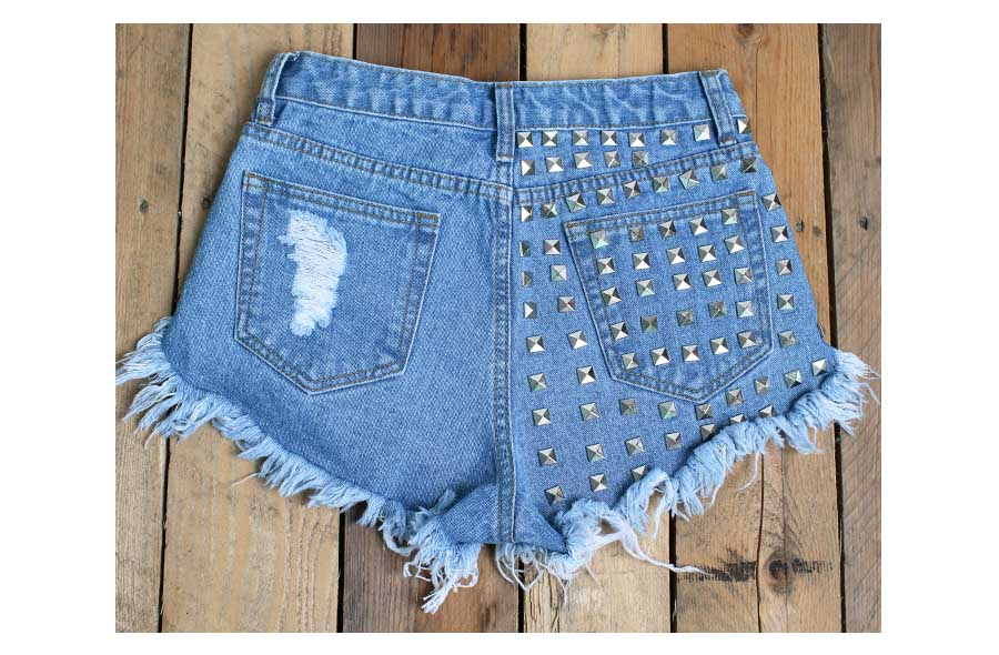 Big EURO size Ripped Shorts Women Casual Jean Shorts Girl Summer short jeans Vintage Washed Blue