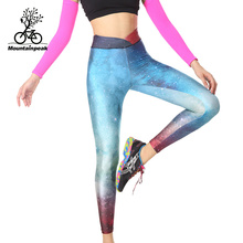 Mountainpeak  Running Sports Tight Pants High Speed Dry Compression Pants Seven Pants Female Yoga Fitness Pants Shorts Women