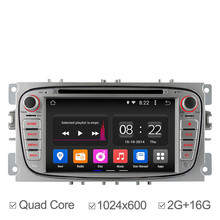 2GB 1024*600 Quad Core Android 4.4 Car DVD Player For Ford Focus 2 Mondeo S-Max Connect 2009 2011 2013 GPS Navigation Radio
