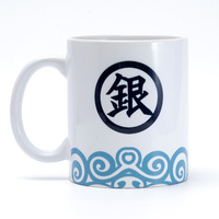 Gintama Sakata Gintoki Kagura Logo Coffee Mug Ceramic Cartoon Party Gifts 11oz