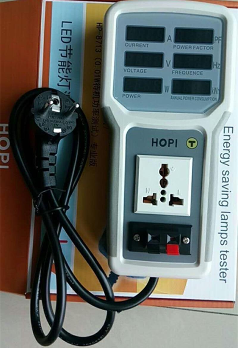 Testeur de compteur d'énergie électrique numérique moniteur Watt mètre analyseur testeur de lampes à économie d'énergie HP9800 compteur de tension numérique