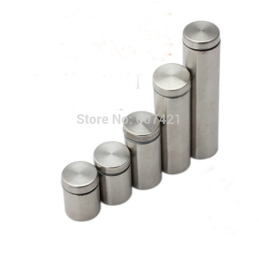 (20 Pairs) D12xH25mm Satin Silver Stainless Steel Standoff & Screw For Mounting Picture Frame And Led Light Panel YMST-008