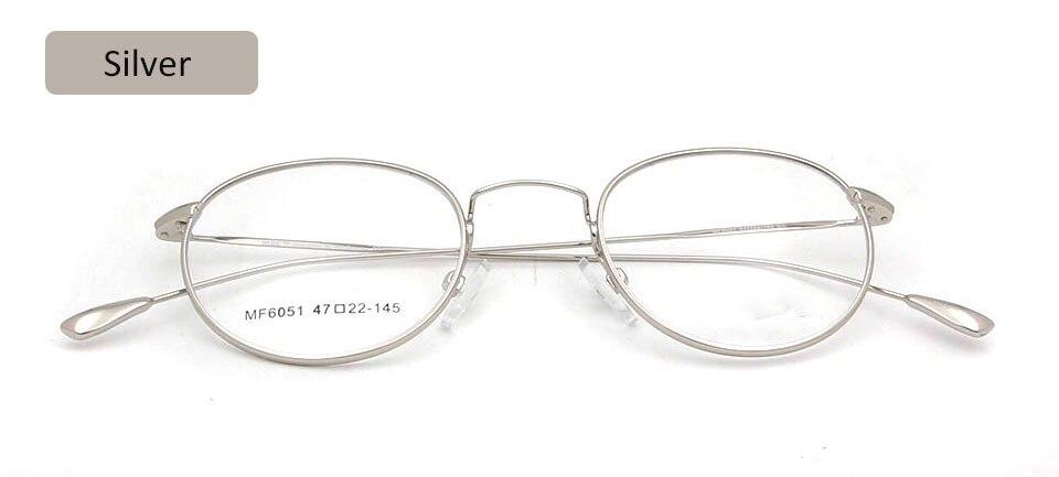 glasses frame silver