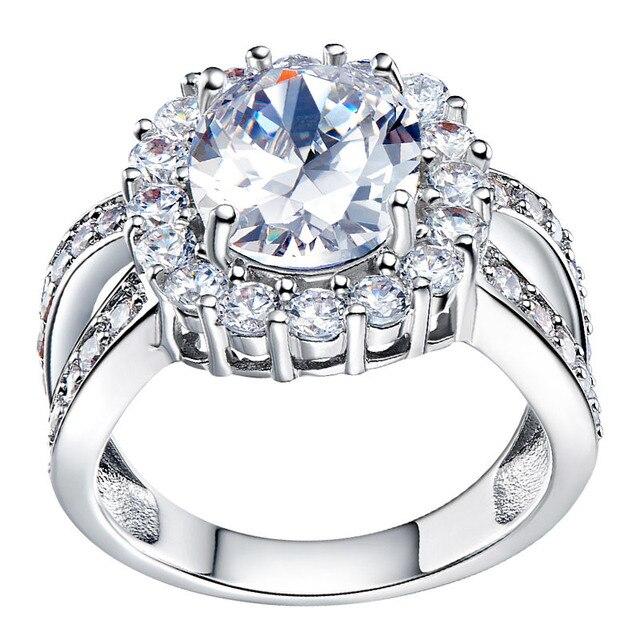 Aliexpresscom Buy big stone rings big crystal ring silver