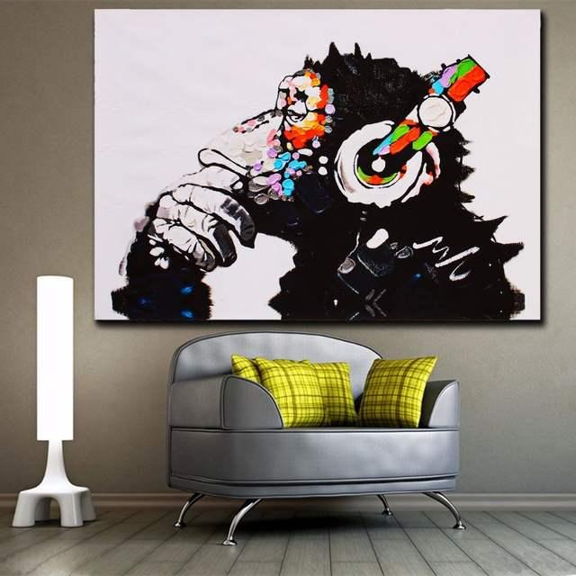 Ev Ve Bahce Ten Resim Ve Hat De Moda Hayvanlar Renkli Muzik Maymun