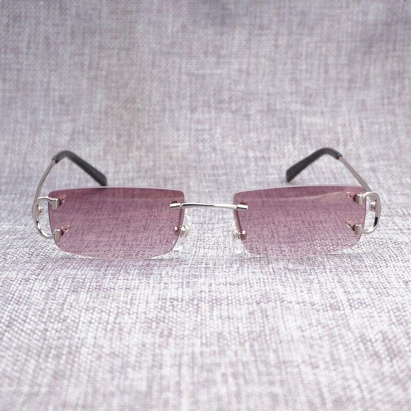 04daf82b278df Retro Acessórios Pequena Lente Mteal Quadro Sem Aro Óculos De Sol Dos  Homens óculos de Sol para o Verão Do Vintage Óculos Óculos De Luxo