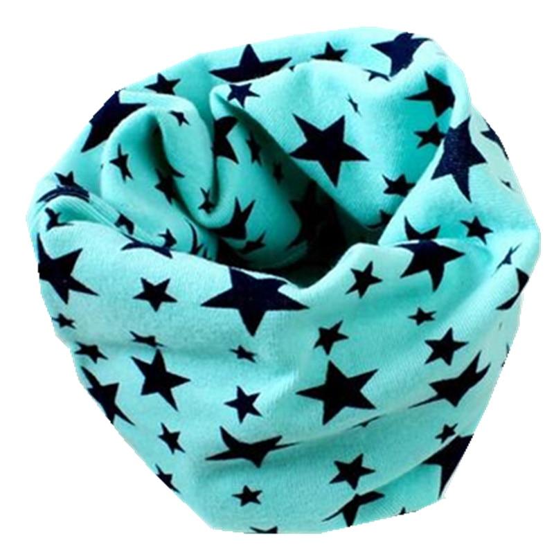 Осенне-зимний детский хлопковый плюшевый шарф, детский шарф для девочек, шарфы для мальчиков и девочек, детский воротник, детский волшебный шейный платок с круглым вырезом - Цвет: green star