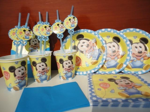 Festa Poco Mickey Mouse 6 Boy Kids Primero Cumpleanos Decoracion Del