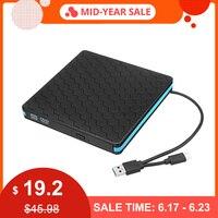 Универсальный Тип C USB 3,0 внешний DVD/CD/VCD горелка RW SVCD проигрыватель дисков оптический привод для Mac/PC/Apple ноутбук/OS/Windows