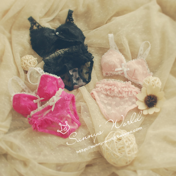 1/3 Bjd clothes bjd lace underwear sets pink black rose doll clothes dod . as . dz . sd doll accessories