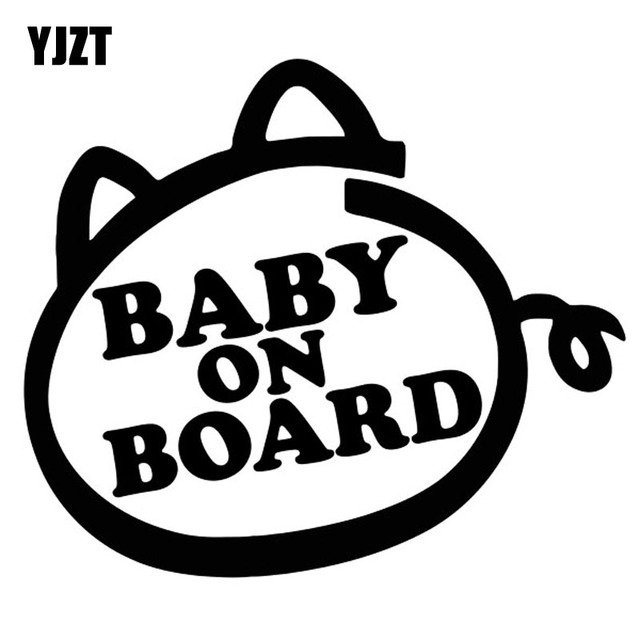 Yjzt 12 7cm11cm Baby On Board Cartoon Waterproof Vinyl Car Sticker