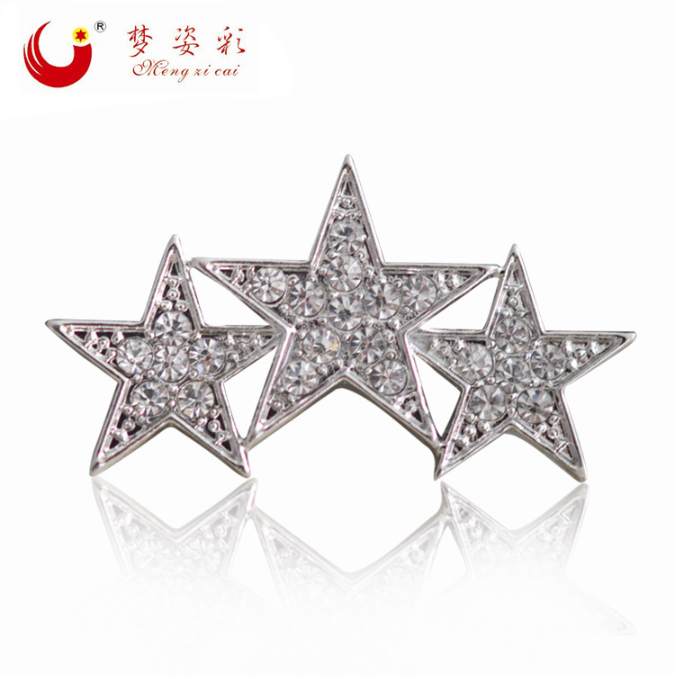 Mzc Vintage Retro 3 Stars Brooch Cheap Brooches For Womens