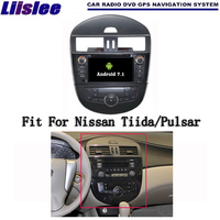 Liislee Android 7.1 2 г Оперативная память для Nissan Tiida/Pulsar автомобиля Радио Аудио Видео Мультимедиа dvd плеер WI FI DVR GPS Navi навигации