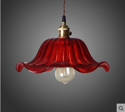 Country Loft Style Pendant Light Vintage Industrial Lamp With Glass Lampshade Edison Lighting ,Lustres De Sala Teto Pendente