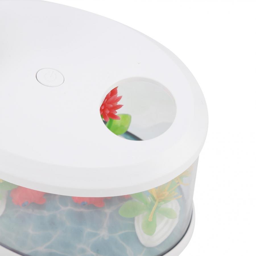 Fish Tank Micro Landscape Mini USB Air Humidifier Air Purifier for Home Office 14.5x12.6x8.6cm